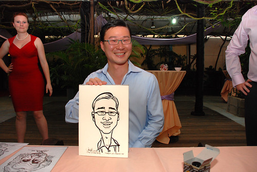 Caricature live sketching for Mark and Ivy's wedding solemization - 9