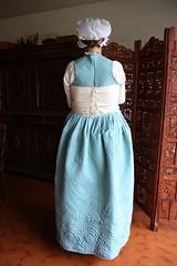 Petticoat and waistcoat, back