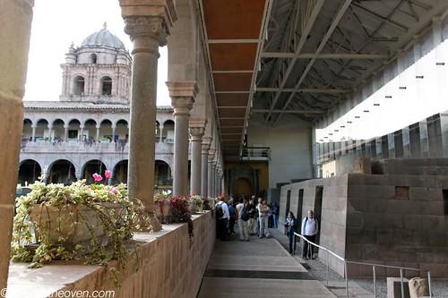 Inca walls, Spanish church
