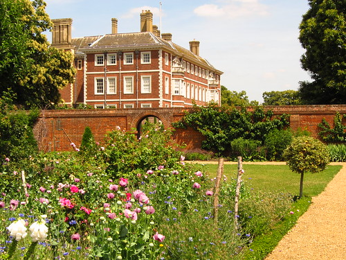 Ham House seen from the Kitchen Garden