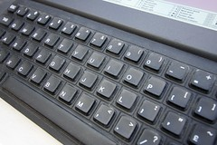 Cambridge Z88 - Keyboard Detail (hairydalek) Tags: old cambridge black heritage history vintage computer keys hardware portable technology laptop pda rubber retro 80s historical 8bit 1980s clive legacy sinclair z88