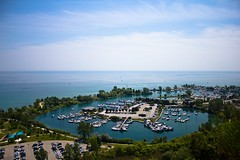 Bluffer's Park Marina (dtstuff9) Tags: park blue sky lake toronto ontario canada marina boat dock horizon scarborough bluffs bluffers TGAM:photodesk=water