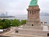 Statue of Liberty Pedestal (scottdunn) Tags: statueofliberty kap pedestal fotografiaaéreacompipa statueoflibertypedestal photographieaérienneparcerfvolant photoparcerfvolant nycswim fesseldrachenluftbildfotografie nycswimlibertyswim2011