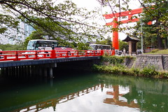 Huge torii (kmmanaka) Tags: japan kyoto torii heianjingu votivepicture shurine paperfortunes