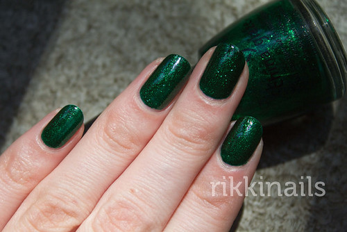 China Glaze Emerald Sparkle 2