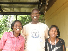 Gloria, Ojok Simon, and Moreen