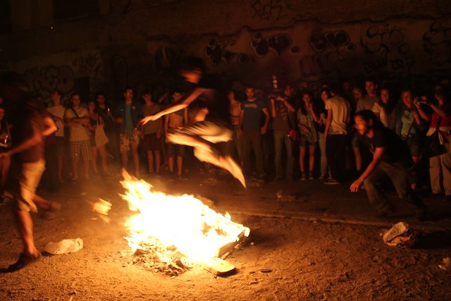 fire jumping at la fiesta de san juan