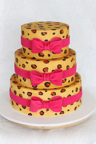 Leopard Wedding Cake