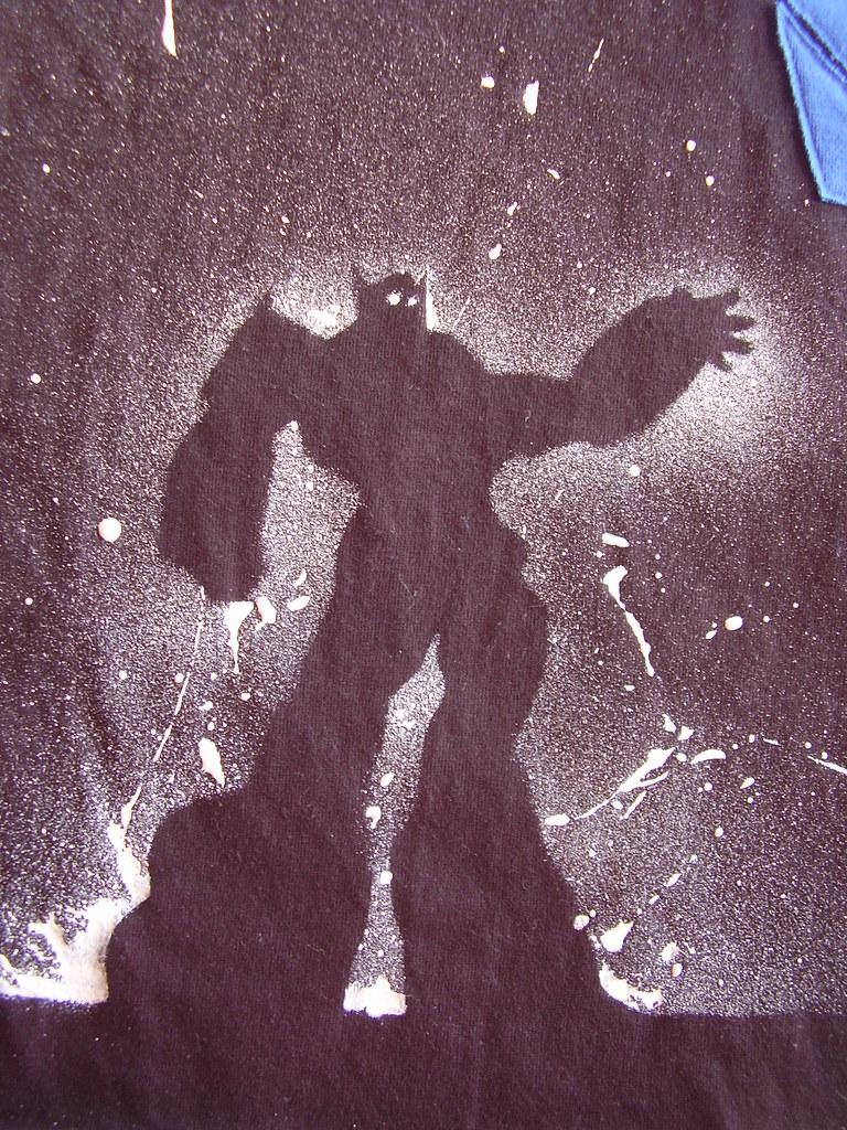 Transformers pillow - Optimus Prime stencil