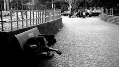 Home of the Homeless (Salman Shamsi) Tags: bw monochrome mono nap homeless streetphotography rest mumbai bnw