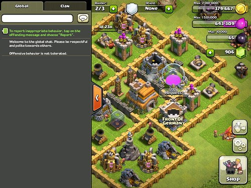 Clash of Clans Chat: screenshots, UI