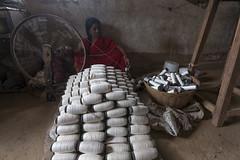 Kawardha - Chhattisgarh - India (wietsej) Tags: kawardha chhattisgarh india sonyalphadslra900 sonyvariosonnart1635mmf28za sal1635z woman textile industry bhoramdeo wietse jongsma