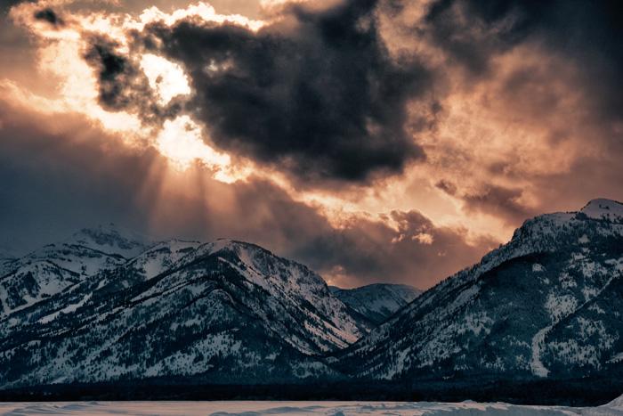 Stormy Teton Sunset