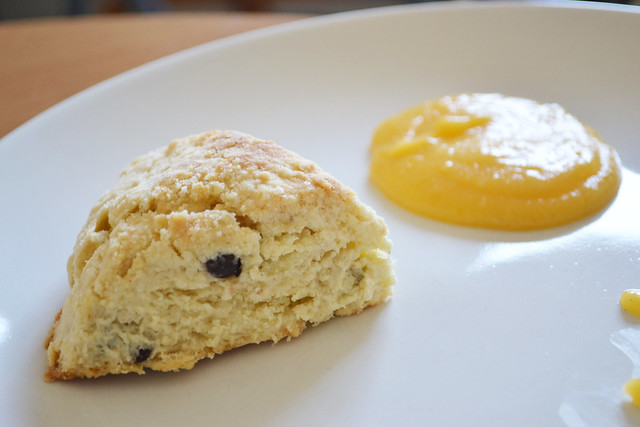 Creamy Chocolate Chip Scone with Lemon Curd