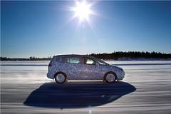 Zafira Wintertest in Arjeplog