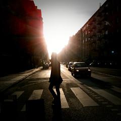 Dagens foto - 360: Walking On Sunshine (petertandlund) Tags: street color silhouette shadows sweden stockholm sdermalm 365 sthlm 08 hornsgatan raysoflight motljus