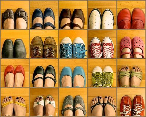 Mis pies y mis zapatos
