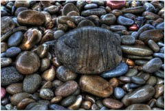 Pebbles at Ogmore beach (Martyn.Smith. Back from Euro tour :)) Tags: beach wales canon eos photo rocks flickr pebbles pebble coastline seashore hdr ogmore ogwr photomatix tonemapped cumru hdrsoft 450d