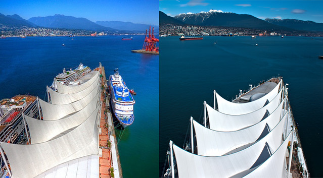 Canada Place Sails: Before and After