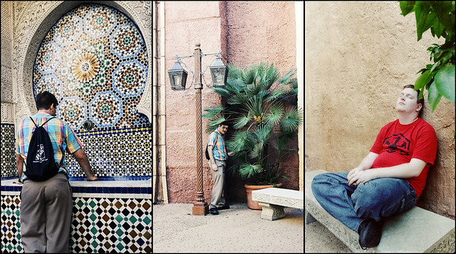 Epcot World Showcase Morocco triptych
