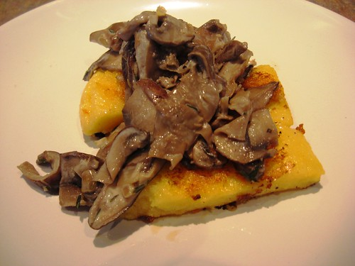 Fried Polenta and Mushrooms