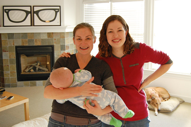 sara, me, and baby sam