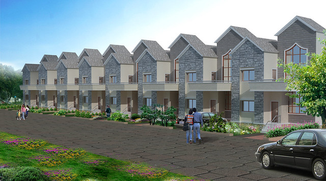 Row Houses in Dajikaka Gadgil Developers' AnantSrishti Kanhe - Gated community of N A Bungalow Plots & 1 BHK 2 BHK 2.5 BHK Flats