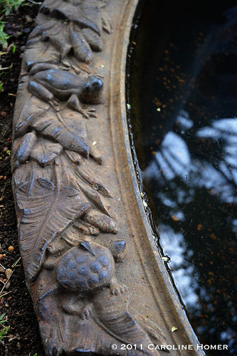 Detail on cast iron pond