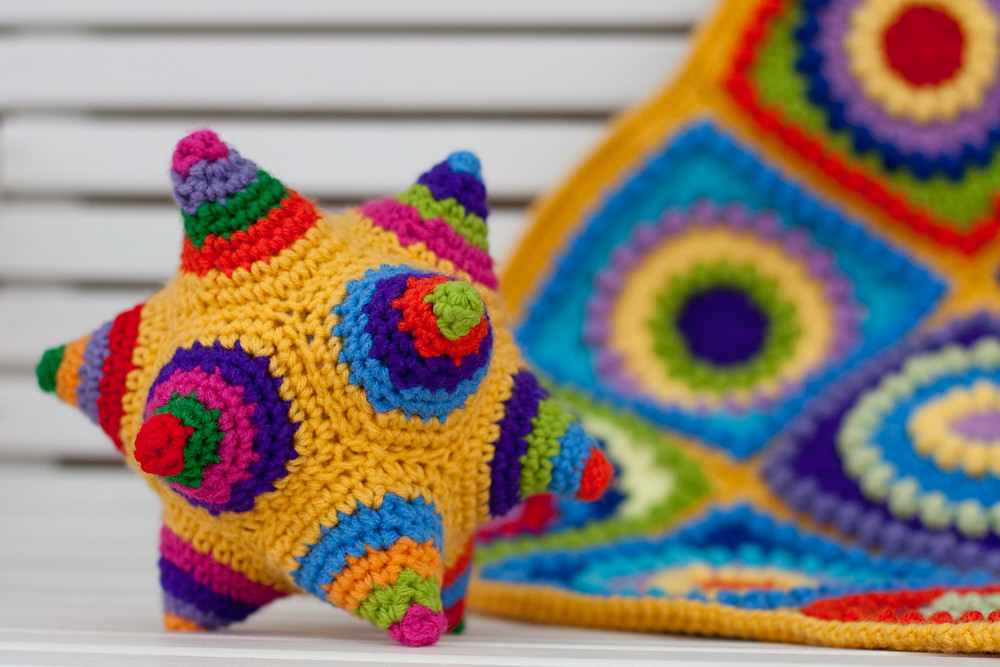Colorful Crocheted Dodecahedron