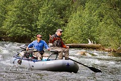 Fly Fishing in Montana (jim_david) Tags: man river boat fishing montana paddle flyfishing westfork bitterootriver
