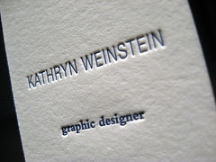 Kathryn Weinstein Letterpress Cards