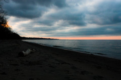 stormy skies (starbaby31111) Tags: sunset lake water spring log waves driftwood rochesterny durandeastmanbeach