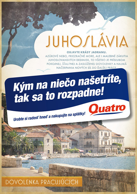 Quatro - Retro poster - Juhoslavia