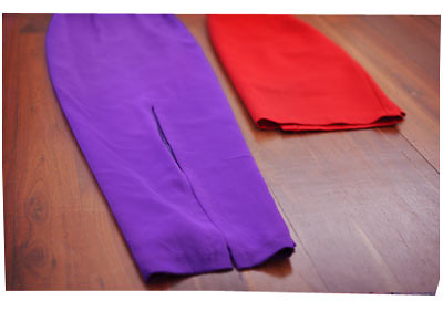 Brights: Purple and Red Skirts
