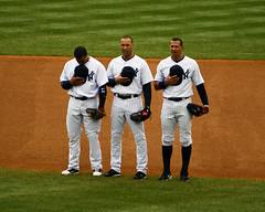 The Pregame (Matthew Pugliese) Tags: baseball yankees newyorkyankees mlb derekjeter nyy alexrodriguez robinsoncano yankeesthirdbaseman yankeessecondbaseman yankeesshortstop