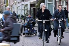 Street Theatre, Prinsengracht, Amsterdam (EccyLad) Tags: street holland netherlands amsterdam bike lumix canal nederland scooter panasonic g1 prinsengracht hybrid keizersgracht jordaan mobility eccylad