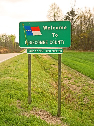 Edgecombe County, NC County Line Sign