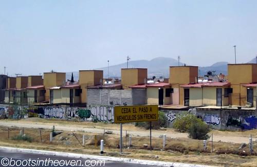 Strange, block housing outside Mexico City