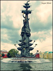 The Peter the Great Statue (Sugar Mind) Tags: travel sky colors statue clouds europe nuvole arte russia moscow great sugar peter cielo mind 1001nights colori statua viaggio mosca storia pietroilgrande doublyniceshot 1001nightsmagiccity ●●notaterrorist●●