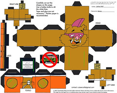 """Teenage Mutant Ninja Turtles Adventures"" -  Bebop papercraft model figure  [[  CUBEECRAFT  model by Joshua Wolf  ]]"
