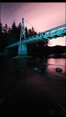 Green Bridge (Tartan Gaz) Tags: longexposure trees sky lightpainting motion clouds canon stars scotland woodenbridge sillhouette riveravon lanarkshire 500d greenbridge chatelherault larkhall benro avonwater kissx3 t1i fairholmestate maryhoses