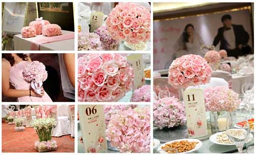 pink wedding ideascolors theme