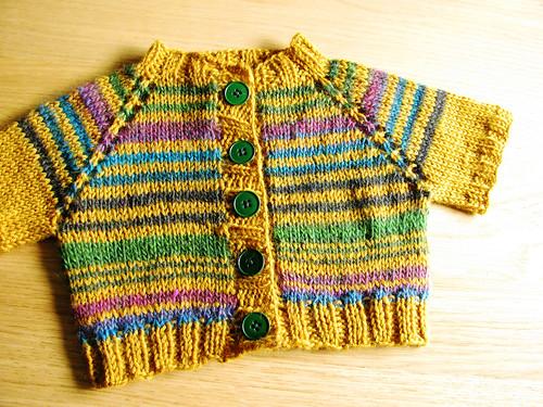 Mustard baby cardigan