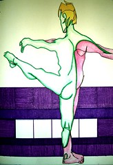 This Dancer Needs No Bar (littleoutrageous) Tags: pink ballet green moleskine model purple dancer marker contour collective littleoutrage nicolelittle