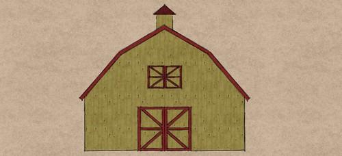 30x40 Gambrel barn front