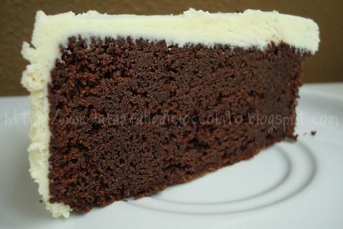 Mud cake con ganache al cioccolato bianco