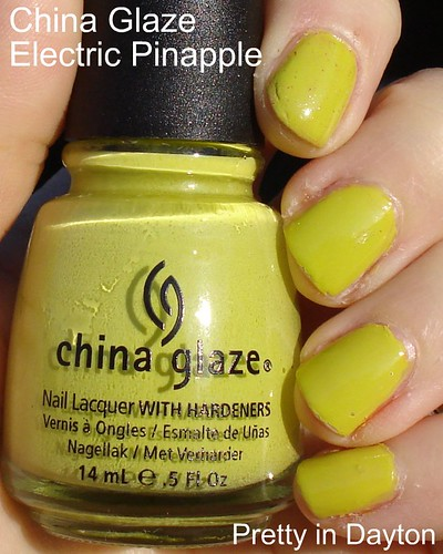 China Glaze - Electric Pinapple