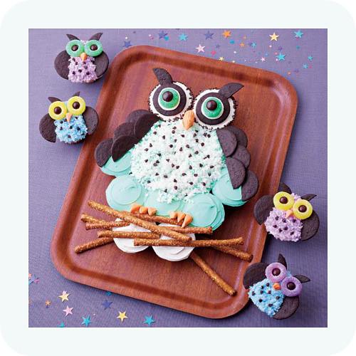 Night owls cupcakes