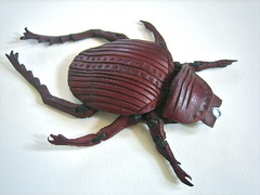 Scarab Beetle (.Kara.) Tags: sculpture leather carved karaginther