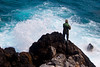 The man and the sea (Theophilos) Tags: sea fisherman rocks wave greece crete splash rethymno κρήτη ελλάδα θάλασσα κύμα βράχια ρέθυμνο ψαράσ